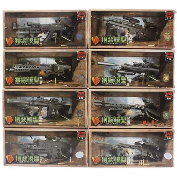 4D槍支模型 DIY步槍模型 MM0598-2(有八款)/一款入(促40) 仿真槍 1:6槍拼裝模型-鑫