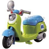 〔小禮堂〕迪士尼 大眼怪 TOMICA摩托車《DMA-06.綠藍》10週年紀念.公仔.模型.玩具 4904810-12958
