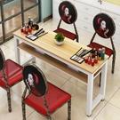 【限時下殺89折】美甲桌 美甲桌簡約現代單人雙人黑色美甲桌子經濟型雙層美甲桌dj