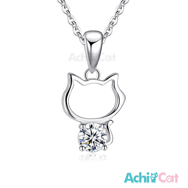 AchiCat 925純銀項鍊 淘氣小貓 CS7052