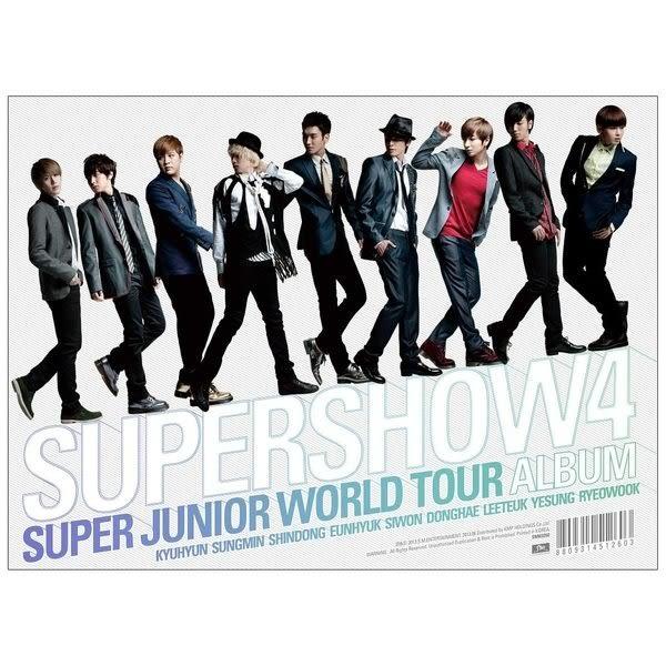 "SUPER JUNIOR世界巡迴"" SUPER SHOW 4 ""Live  CD 三片裝 (購潮8"
