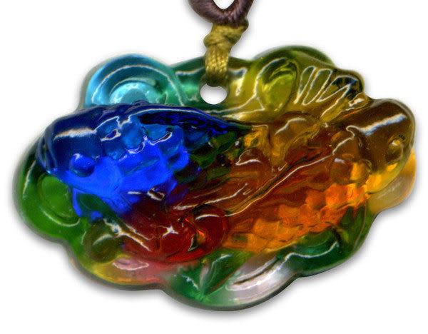 鹿港窯~居家開運水晶琉璃項鍊~金玉滿堂◆附精美包裝◆免運費送到家