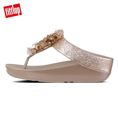 熱銷單一價!【FitFlop】經典款 立體珠飾造型夾腳涼鞋玫瑰金