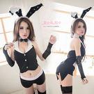 兔女郎 一般尺寸/加大尺碼 角色扮演制服兔子裝 黑色燕尾服四角褲- 愛衣朵拉