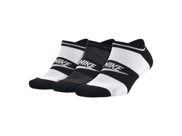 nike nsw WOMENS 運動襪 短襪  中性 慢跑 舒適 透氣 黑 白 (3入)  【運動世界】SX5446-901