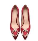 春季新款伴娘新娘結婚鞋女尖頭