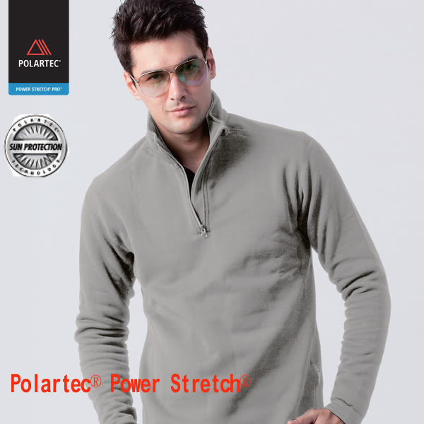 【JORDON 】半開襟上衣 POLARTEC Power Stretch PRO 男款 781