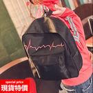 後背包-新款立體線繡動感圖案後背包包  03261黑色