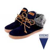 【VERBENAS】MARBELLA西班牙時尚造型毛飾短靴  深藍色(034-DBU)