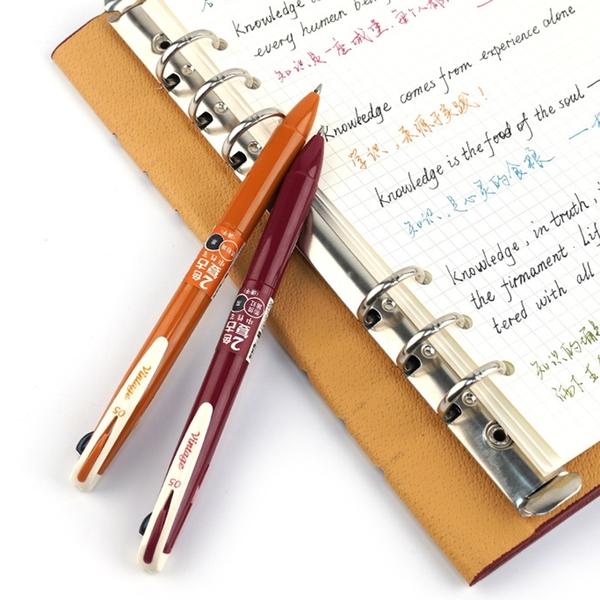 【BlueCat】速乾雙色按壓復古中性筆 (四入裝) 2色復古色中性筆 莫蘭迪 水性筆 手帳筆