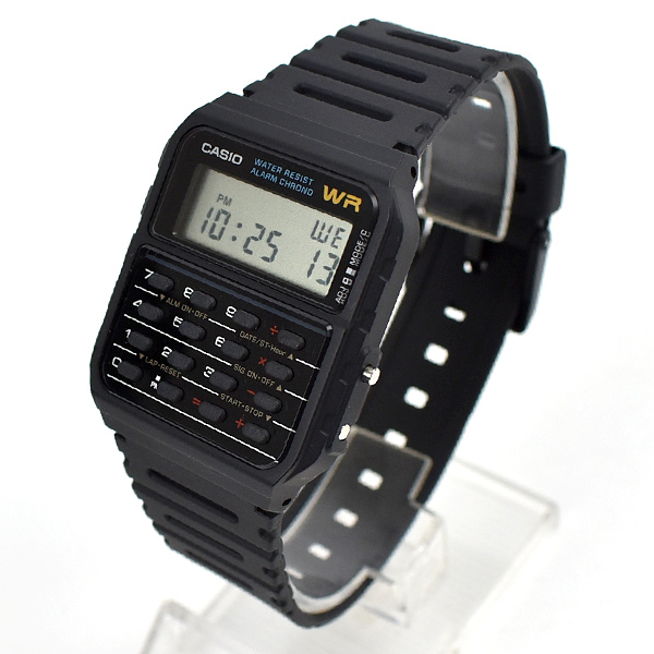 CASIO手錶 全黑計算機電子鋼錶NECD10