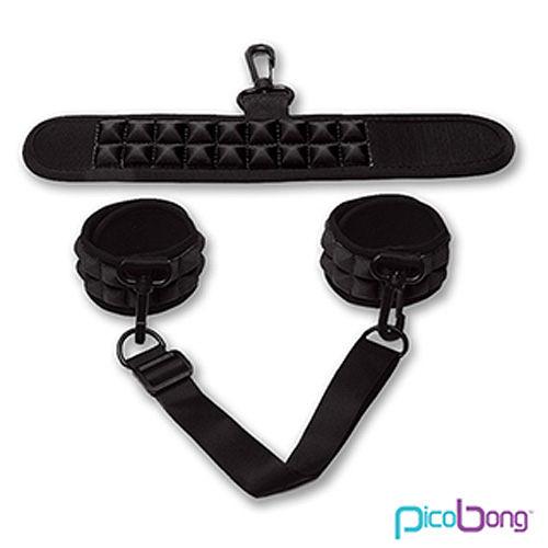 情趣用品 瑞典PicoBong-Resist No Evil Cuffs天魔降服手銬(粉/藍/黑三色可選) +潤滑液2包