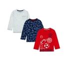 mothercare 3入長袖球類上衣-經典系列(M0QC074)3A、4A、7A、8A