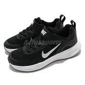 Nike 童鞋 WearAllDay PS 黑 白 魔鬼氈 小朋友 運動鞋 基本款 【ACS】 CJ3817-002