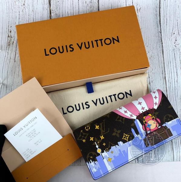 BRAND楓月 LOUIS VUITTON LV M68491 聖誕限量長夾 SARAH 拉鍊 錢包 發財夾