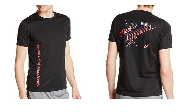 [陽光樂活=]ASICS 亞瑟士 綜合運動系列 印花T 恤 XA110N-90C 黑