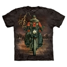 【摩達客】(預購)(大尺碼4XL、5XL)美國進口The Mountain 哈雷騎士 純棉環保短袖T恤(10416045095a)