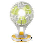 USB8吋露營照明燈扇 超亮照明涼風扇