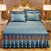 歐式蕾絲夾棉床裙加厚床罩單件裙式床套床墊保護套防滑保暖 KV4610 『小美日記』