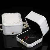 首飾盒珠寶首飾包裝盒鑽戒盒子求婚高檔項鍊盒子戒指盒婚禮森系對戒盒【全館免運八五折】