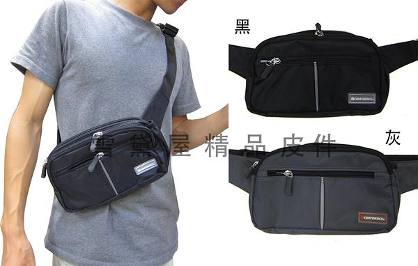~雪黛屋~CONFIDENCE 腰包中容量腰背肩背斜側台灣製造品質保證1680D防水尼龍布二層主袋ACB2171