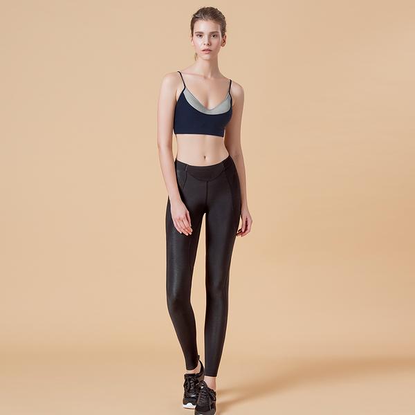 LeRêveParis  Flow 修身彈性運動長褲 -黑色