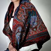 Christian Dior 時尚華麗大披肩絲巾(暗紅)179015