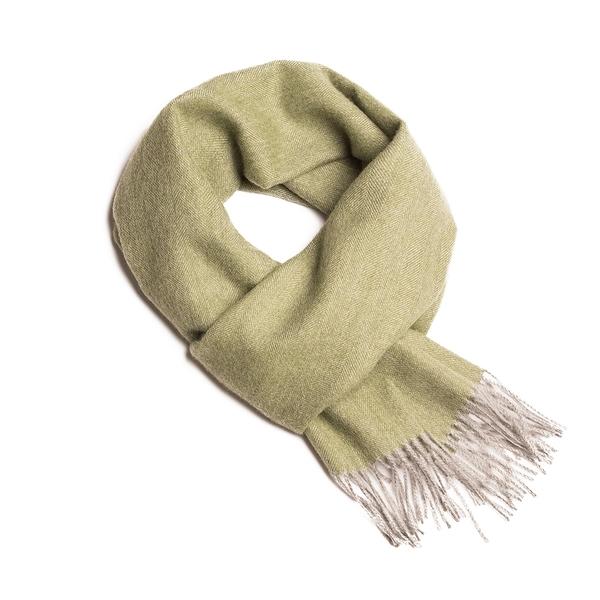 Alpaka Scarf 100% 30x200cm 極致魚骨紋系列 素面單色 羊駝毛 超輕量 圍巾 - 2019 秋冬仕樣(原野綠意)
