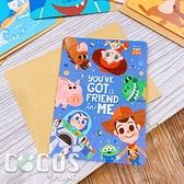 正版授權 迪士尼卡片 Q版玩具總動員 生日卡 萬用卡片 卡片 附信封 COCOS DA030