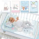 嬰兒床冰絲涼蓆 幼兒園兒童網眼透氣枕頭+床墊涼蓆-321寶貝屋