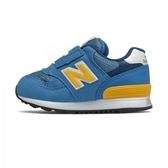 New Balance 嬰幼童藍黃色休閒運動童鞋-NO.IO313BY