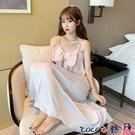 熱賣睡裙 冰絲睡衣裙女夏2021年新款吊帶裙薄款夏季可愛性感長款仙女風睡裙 coco
