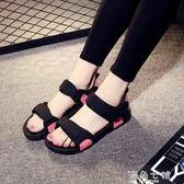 厚底涼鞋夏季厚底羅馬鞋涼鞋女仙女風海邊度假外穿沙灘鞋學生平底防滑百搭 海角七號