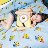 床包被套組 / 雙人【小小兵全速前進】含兩件枕套  高密度磨毛布  戀家小舖台灣製ABF212