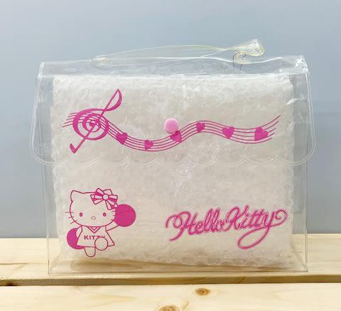【震撼精品百貨】Hello Kitty_凱蒂貓~Sanrio HELLO KITTY防水收納包/透明手提包-啦啦隊#39727