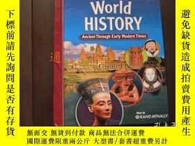 二手書博民逛書店英文版:World罕見History Ancient Through Early Modern Times(大16