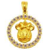 迪士尼系列金飾-黃金墜子-圓滿美妮款