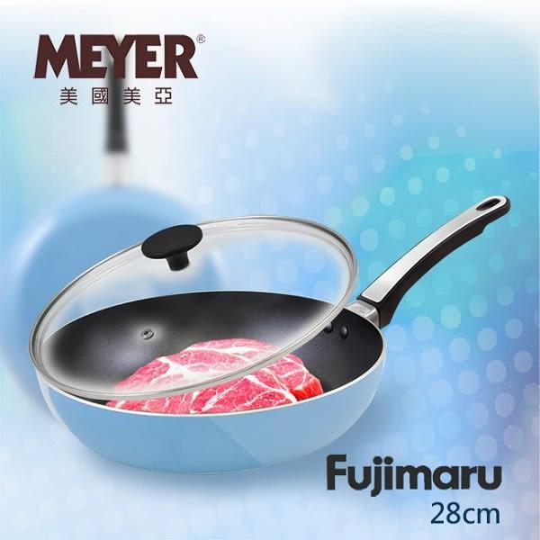 【MEYER】美國美亞Fujimaru藍珊瑚單柄不沾平煎鍋28CM  16445