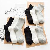 全棉襪子秋冬款韓版男女純棉中筒襪學院風加厚加絨保暖毛巾襪冬季 超值價