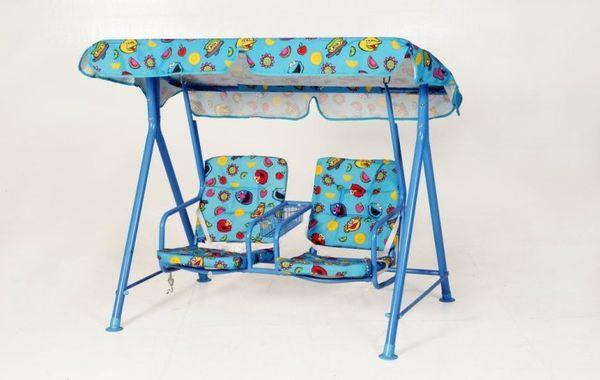 【南洋風休閒傢俱】戶外鞦韆系列-藍色兒童鞦韆 戶外鞦韆 雙人鞦韆(S84174)