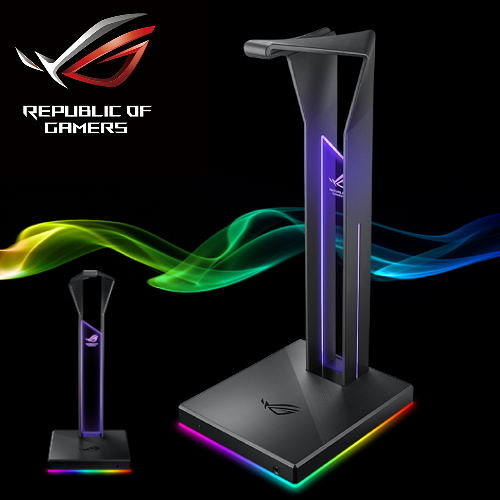 【ASUS 華碩】ROG THRONE QI RGB耳機架