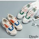 Dingle丁果ღ 韓版厚底拼色老爹鞋厚底鞋(二色35-40)