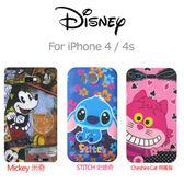 iae創百市集【Disney迪士尼】iPhone 4 4s專用 史迪奇 米奇 咧嘴貓 手機套 軟殼