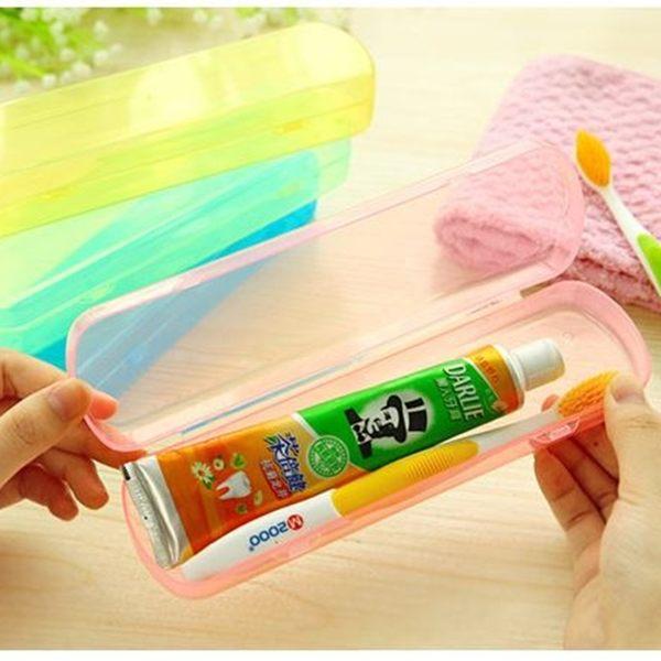 [拉拉百貨]果凍色 牙刷 牙膏 旅行收納盒 餐具 筷子 湯匙 叉子 不挑色