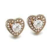 耳環 925純銀鑲鑽-流行百搭生日情人節禮物女飾品2色73dm243【時尚巴黎】