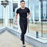 夏季運動套裝男士跑步夏天戶外健身房晨跑