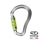 超輕水滴型鋁合金有鎖鉤環2C38600 Climbing Technology/城市綠洲(原色、攀岩鉤環、義大利製造、鋁合金)