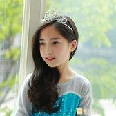 交換禮物-皇冠頭飾兒童女童鑲?髮箍灰姑娘髮飾品公主髮卡生日王冠禮盒