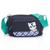 側背包 金安德森 樂活行旅  小型正方款斜側輕旅包-深藍