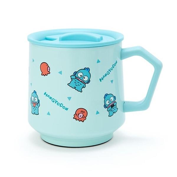 小禮堂 人魚漢頓 保溫馬克杯 附蓋 350ml (藍滿版款) 4550337-03391